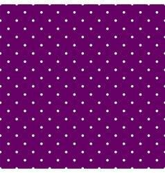 Tile pattern white polka dots on violet background vector