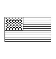 Usa flag emblem vector