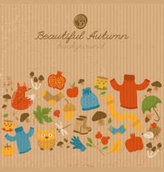 Vintage abstract autumn template vector