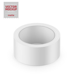 White matte cello tape roll realistic vector
