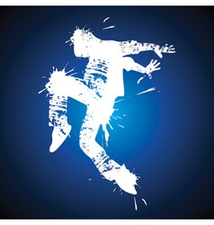 Young man hip-hop dancing vector