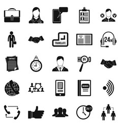 airing icons set simple style vector image