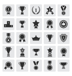 Big set of black award success and victory vector image