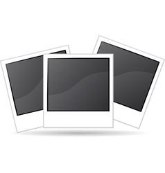 blank photo vector image
