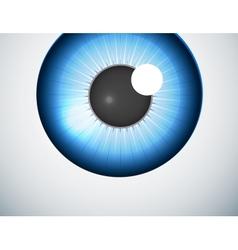 Blue eye ball background vector image vector image
