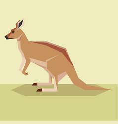 flat design kangaroo vector image