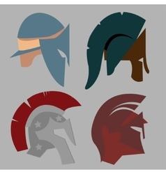 Set Spartan Helmet vector image