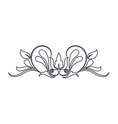 swirl vintage baroque ornament style line vector image