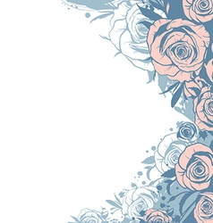 template modern pink roses vector image vector image