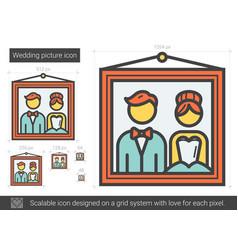 wedding picture line icon vector image
