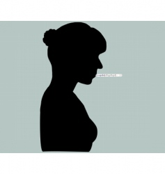 woman with thermometer vector image