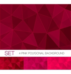 Abstract triangle backgrounds set vector image vector image
