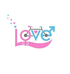 Bicycle in love vector image