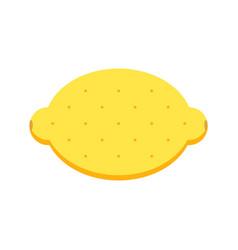 Flat design lemon isolated on white background vector
