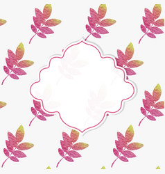 frame with nature pattern vector image vector image