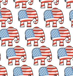 Republican Elephant seamless pattern Elephant vector image