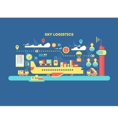 Sky logistics design flat vector image vector image