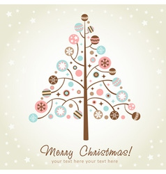 Stylized design Christmas tree vector image vector image