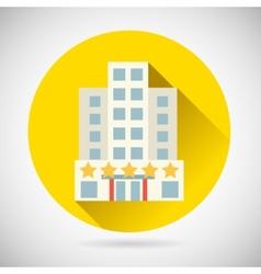 World Trip Symbol Best Star Hotel Inn Rest Icon on vector image vector image
