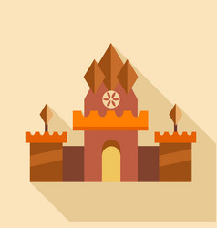 ancient castle icon flat style vector image vector image