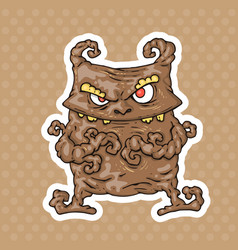 cartoon monster vector image vector image