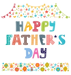 Happy Fathers day Best dad postcard vector image