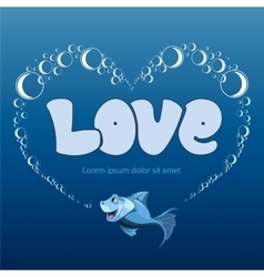 love frame vector image