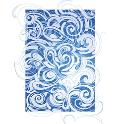 Abstraction with waves vector image vector image