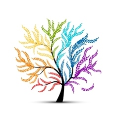 Art tree colorful for your design vector image