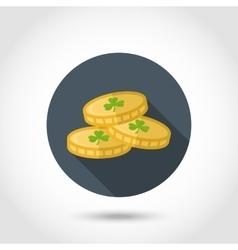 Coins Leprechaun icon vector image