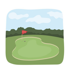 golf coursegolf club single icon in cartoon style vector image