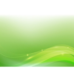 Green abstract background lighting curve and layer vector image vector image