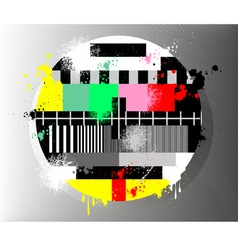 Grunge color test for television vector image vector image