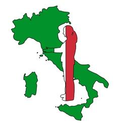 Italian handshake vector image