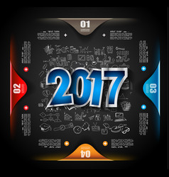2017 new year infograph and business plan vector image