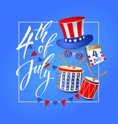 4th july independence day usa vector image