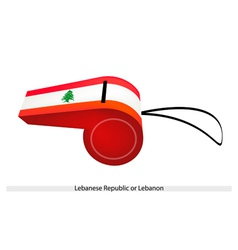 A Whistle of The Lebanese Republic Flag vector image