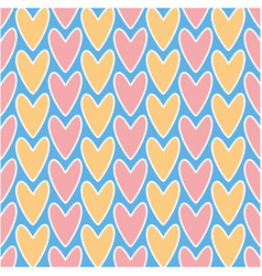 abstract decorative seamless romantic pattern vector image