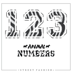 Animals mosaic numbers for t-shirts posters card vector