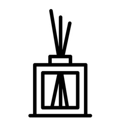 Aroma sticks diffuser icon outline style vector