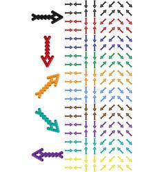 Arrow set arrow consisting of isometric cubes vector