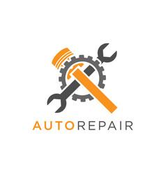 Auto repair logo design vector