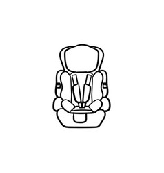 baby car seat hand drawn outline doodle icon vector image