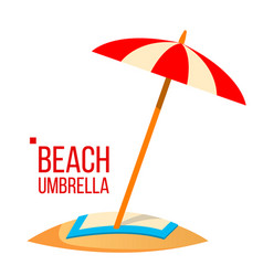 beach umbrella sand beach summer vacation vector image