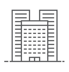 Buildings thin line icon real estate and home vector