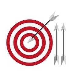 Bullseye with arrows icon vector