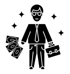 businessman icon sign o vector image