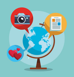 camera and world vector image