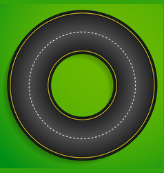Circular racetrack from above karting racing vector
