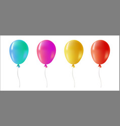 Color helium balloon set for party event vector